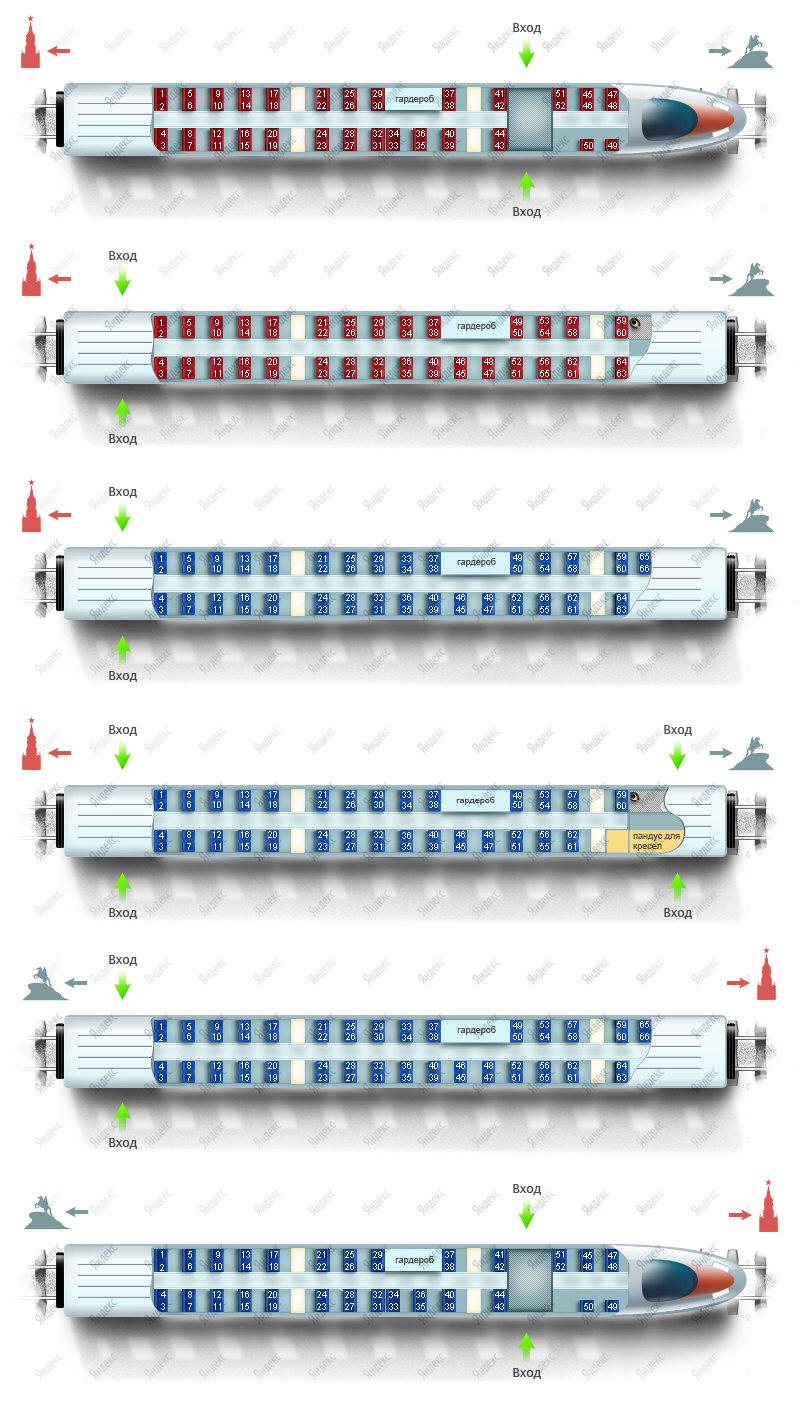 Схема поезда Сапсан
